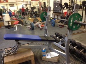 Setup for decline bench press