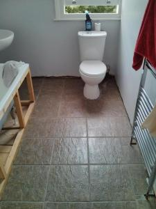 My freshly-tiled bathroom floor