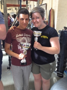 Say cheese! Me with 52kg champion Rachel