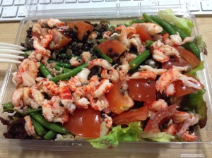 Crayfish & lentil salad