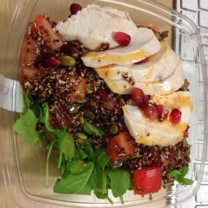 Chicken, quinoa & pomegranate salad