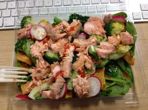 "This isn't the previously-mentioned salad, I just can't see how this would be a ""bad"" food choice. Sorry tupperwarers."